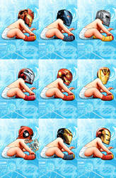 Iron Man #9 Variant covers by GURU-eFX