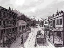 Old Western Town by BLMcKinney