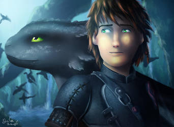Best Friends (Hiccup and Toothless) by Kaislentheya