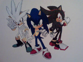 Sonic Shadow Silver mural by sonicfan40