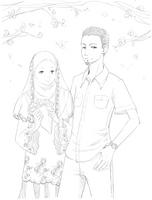 TM com: S.N.O.W. couple lineart by Petshop17