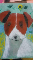 Happy dog | drawning by my daughter by weronicamc