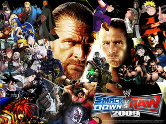 WWE SmackDown vs. RAW 2009 Special Roster by yoink13