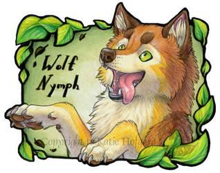 Happy Leaf Dog by KatieHofgard