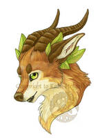 Wolf Nymph Satyr-ish bust by KatieHofgard