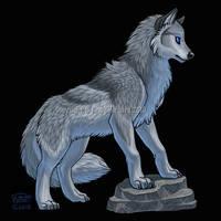 Waterlily Silver Wolf by KatieHofgard