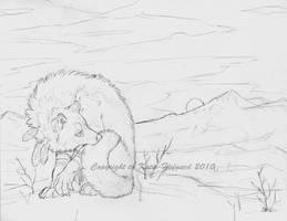 December Werewolf - Sketch by KatieHofgard