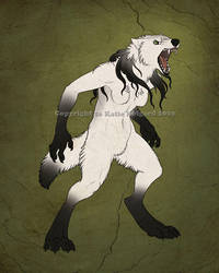 Ghost Wolf Form by KatieHofgard