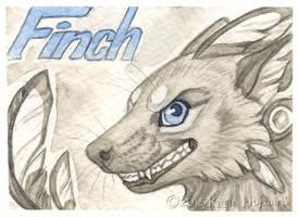 Finch Monochrome Badge by KatieHofgard