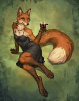 Fox in the Vinyard by KatieHofgard