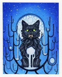 Blue Moon Werewolf by KatieHofgard