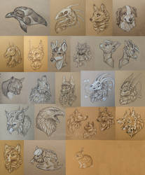 Hospital Toned Paper Sketches by KatieHofgard