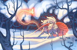 Winged Winter Friends by KatieHofgard