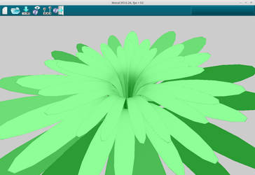 3D mesh Julia flower - MetalIFS v0.26 by ABlipinTime