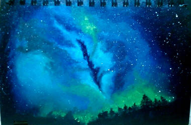 night sky by Bhulakshmi