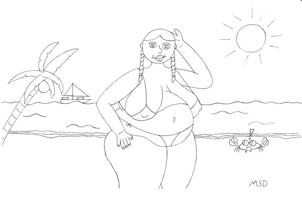 Beach'ed Babe by MrSmuttyDoodles