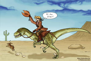 APH - Cowboys on Dinosaurs by Raax-theIceWarrior