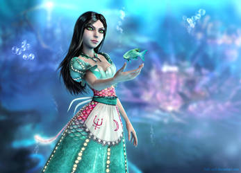 Alice Wonders under the Sea by Halli-well