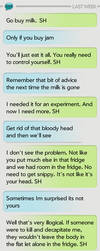 Sherlock and John Casual Texting -SMS by dacoolcat