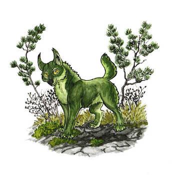 Green wolf by ShadowOfLightt