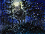 Wild boar at night by ShadowOfLightt