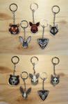 Animal heads and skulls keychains by ShadowOfLightt