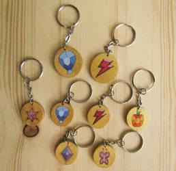 Elements of harmony keychains by ShadowOfLightt