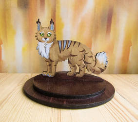 Cat figurine on stand commission by ShadowOfLightt