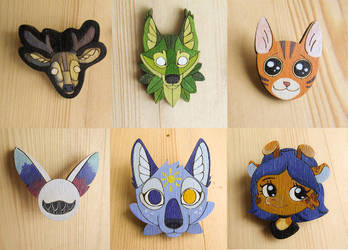 Badges | magnets | pins | brooches work examples by ShadowOfLightt