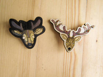 deer pins / magnets by ShadowOfLightt