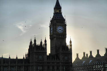 Big Ben Sunset HDR by d3lf