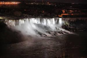 American Falls, Niagara night by d3lf