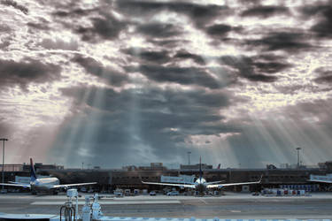 Even God flies from JFK by d3lf
