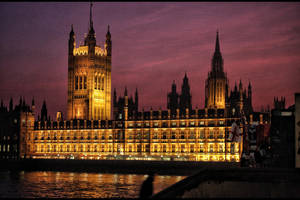 Houses of Parliament Red by d3lf