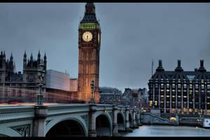 Dusk in London by d3lf