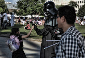 High fiving Darth by d3lf