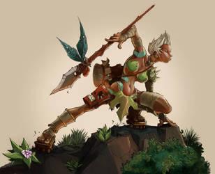 Native Girl Digital Paint by frogbillgo