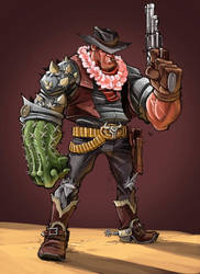 Cactus McGraw In Color by frogbillgo