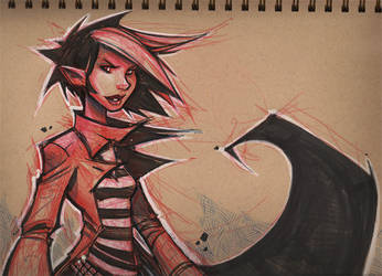 Vampire Girl by frogbillgo