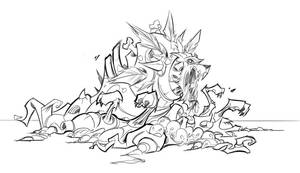 Sacred Seasons 2 Shadow Hound by frogbillgo
