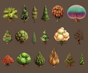 Sacred Seasons 2 Tree Sheet by frogbillgo