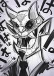 Japanese Demon Sketch by frogbillgo