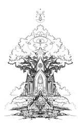 Temple by frogbillgo