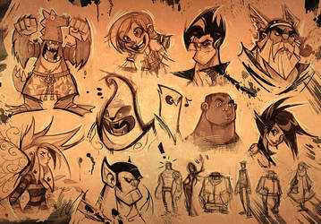 Sketch Page April by frogbillgo