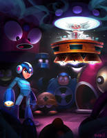 Mega Man Tribute by frogbillgo