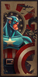 Avengers Card Captain America by frogbillgo