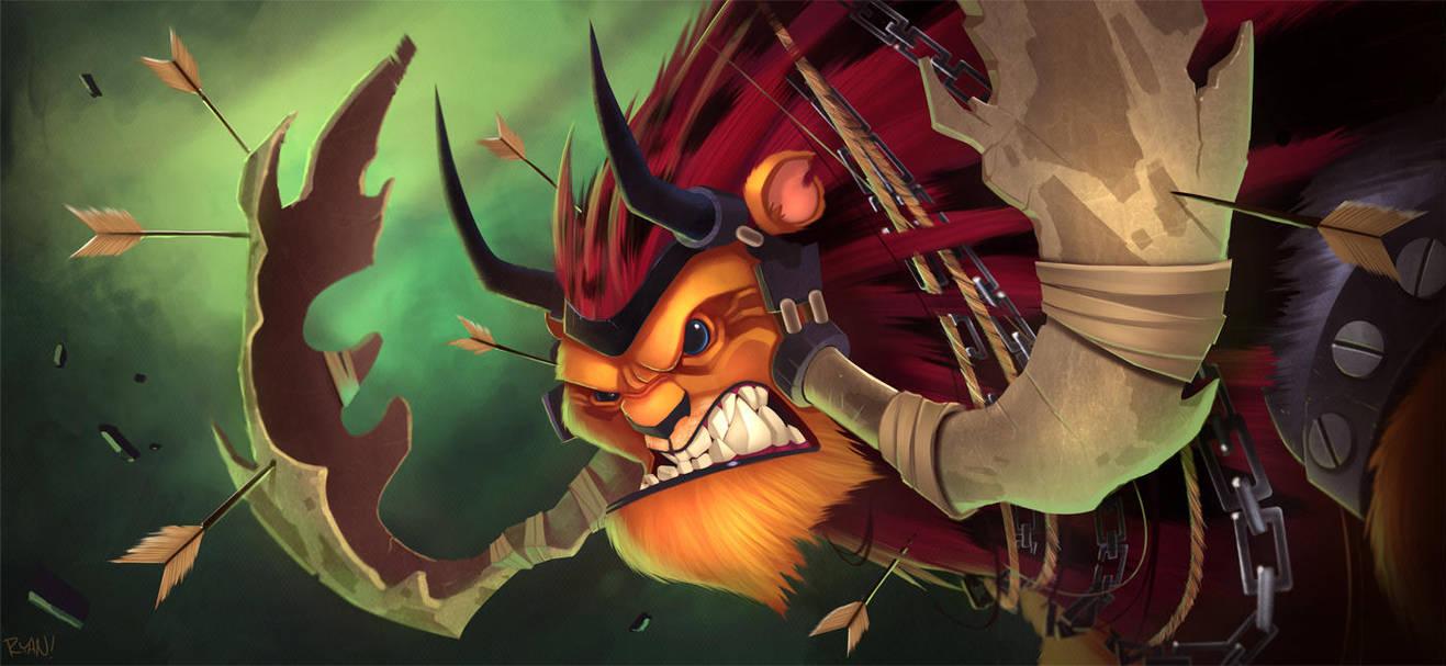 Lion Warrior by frogbillgo