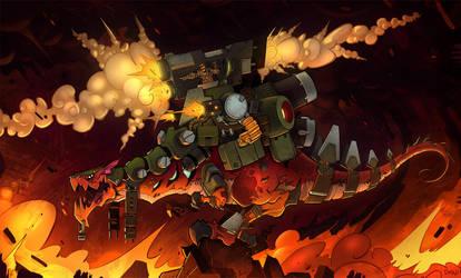 War Dragon Paints by frogbillgo