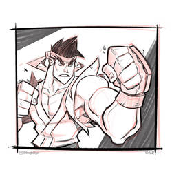 Ryu Sketch! by frogbillgo