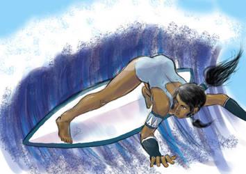 Surfing Korra by ESandKB